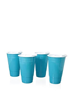 AdNArt Set of 4 Fun Party Cup (Blue)