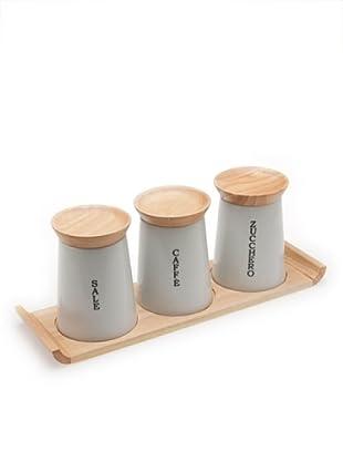 Tognana Set 3 Barattoli Cucina Zen