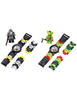Lego Kid's Amazon Exclusive 9009556 Ninjago Kendo Cole and Lasha 2 Pack Analog Watches With Minifigure