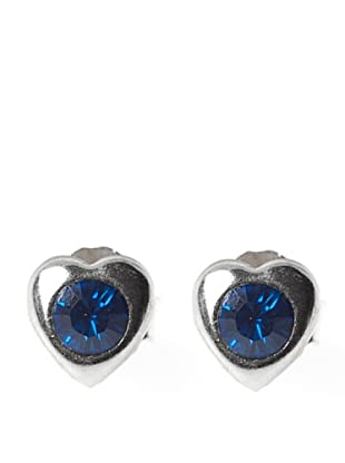 Vip de Luxe Pendientes De Corazón Azul