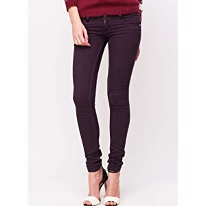 Kraus Jeans LFA-669 Low-Rise Denim Jeans - Red