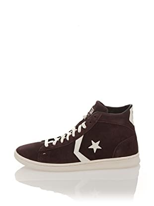 Converse Botines Pro Leather Lp Mid Suede (Chocolate / Blanco)