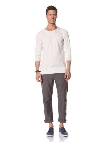 Zen Mechanics Men's Faded Terry 3/4 Sleeve Top (Oatmeal)
