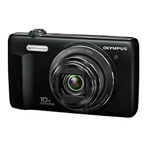 Olympus Smart VR-350 16MP Point and Shoot Digital Camera with 10x Optical Zoom (Silver)