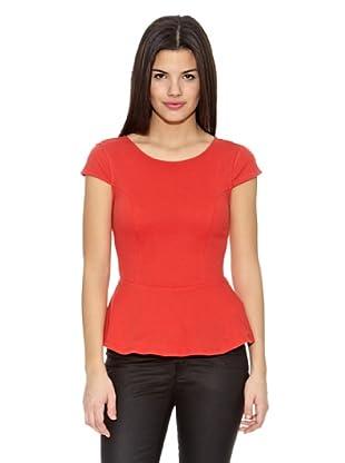 Springfield Camiseta Ft Peplum Pique (Rojo)