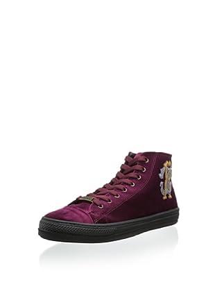 Roberto Cavalli Men's Elegant High-Top Sneaker (Burgundy)