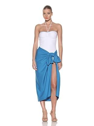 Chris Benz Women's Luxury Silk Sarong (Turquoise)