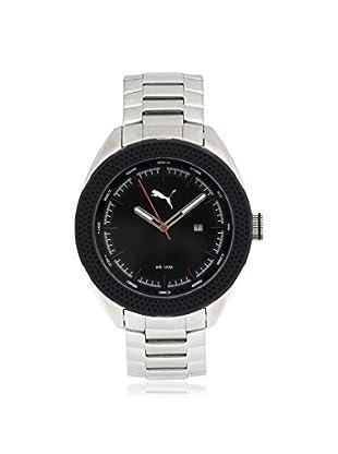 Puma Men's PU103261002 Silver/Black Stainless Steel Watch
