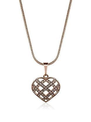 Annie Ram Collar Crossed Heart Metal Rosado