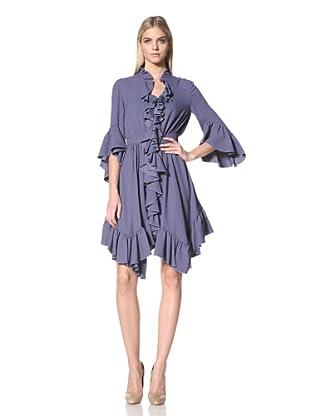 ALTUZARRA Women's Flutter Day Dress (Blue)
