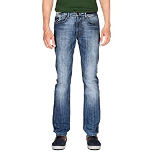 Mid Wash Cotton Jeans