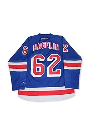 Steiner Sports Memorabilia Carl Hagelin Signed New York Rangers Blue Jersey