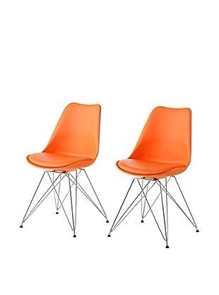 13 Casa Stuhl 2er Set Kaos C1 orange