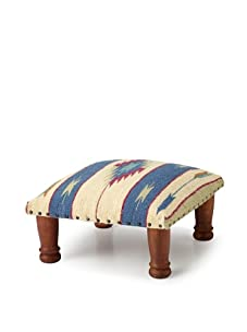 La Boheme Upholstered Foot Stool (Navy)