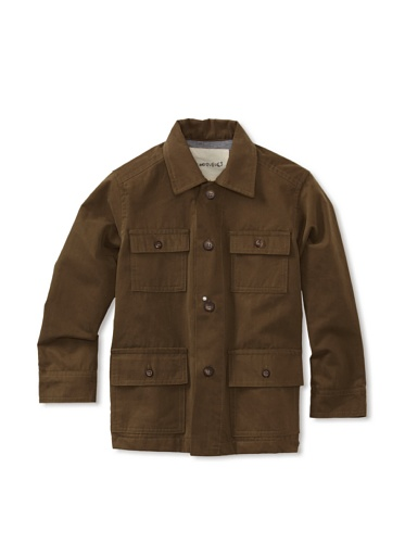 Peas & Queues Boy's Lenny Jacket (Olive Twill)