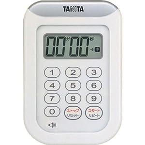 TANITA 丸洗いタイマー100分計 ホワイト TD-378-WH