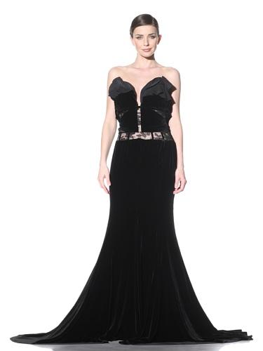 NINA RICCI Women's Velvet Gown (Black)