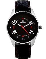 ADAMO Black Dial Analogue Mens Watch - (AD1056)