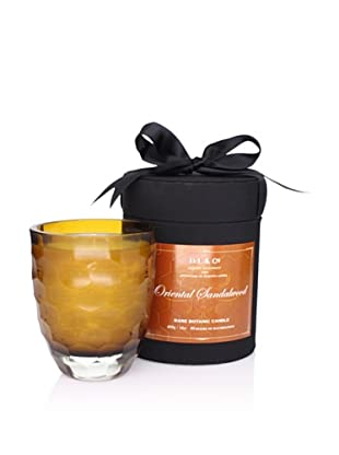 D.L. & Co. Candle in Honeycomb Cut-Glass Tumbler, Amber