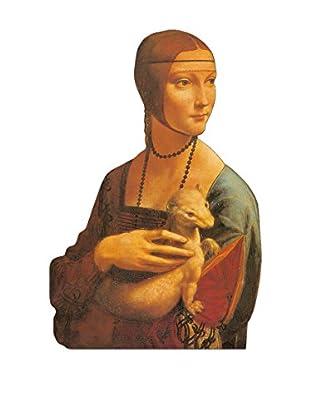 ArtopWeb Panel de Madera Da Vinci Dama Con Ermellino