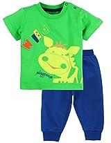Infant Boys T-Shirt And Track Set, Multi Colour (6-9 Months)