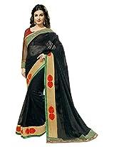 Mansi Sarees Chiffon Resham Saree (Jay1012 _Black)
