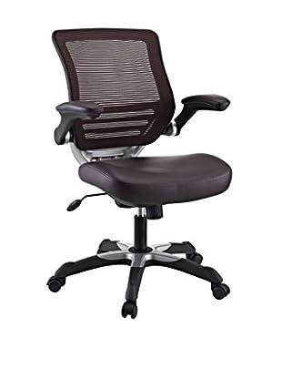 Modway Edge Vinyl Office Chair (Brown)