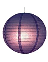 DholDhamaka Even Round Paper Lantern - Purple , 14 inch