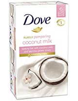 Dove Purely Pampering Coconut Beauty Bar with Jasmine Petals Scent 6 Count