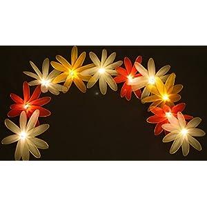Fabric flowers fairy lights - Daisies