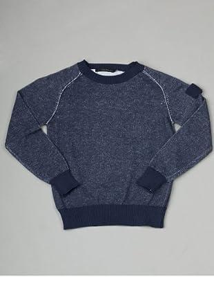 Calvin Klein Jeans Jungen Pullover CBR088 KNQ08 (Blau(792, Light Navy ))