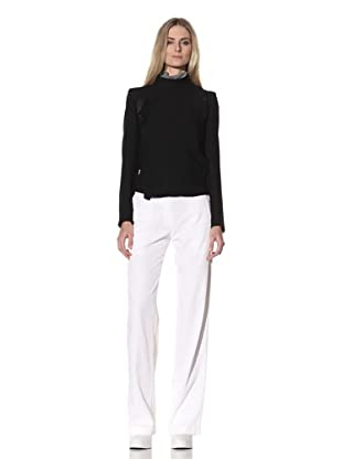 Ann Demeulemeester Women's Side Button Jacket (Black)