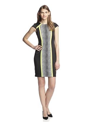 Chetta B Women's Snake Colorblock Dress (Black Multi)