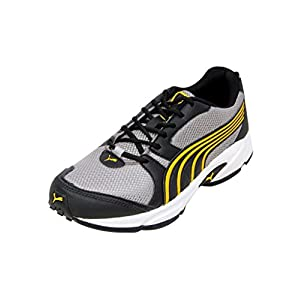 Puma Men's Running Shoes Black and Dandelion