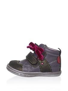 Kickers Kid's Tamara Bow Sneaker (Infant) (Khaki)