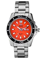 Orient Orange Dial Analogue Watch for Men (SEM75001M8)