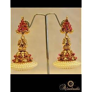 Earrings - Temple Jewellery - Jhumka 23