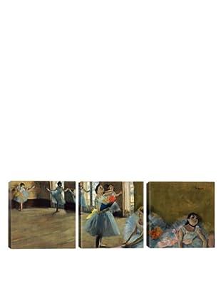 iCanvasArt Edgar Degas: Dancers By Rail Panoramic Giclée Triptych