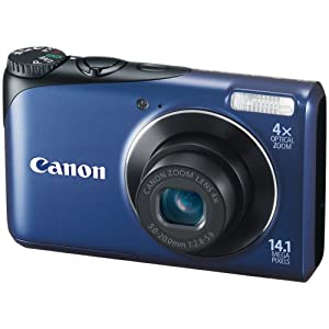 Canon PowerShot A2200 14.1 MP Digital Still Camera with 4x Wide-Angle Optical Zoom (Blue)