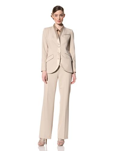Magaschoni Women's Silk Trimmed Blazer (Mica)