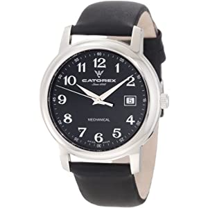 Catorex Men's 113.1.8167.320 Attractive Black Calfskin Mechanical Watch