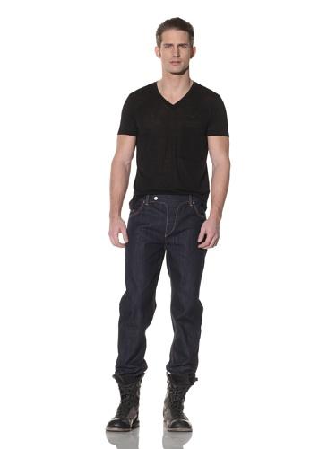 Cotte D'Armes Men's Slim Fit Leg Selvedge Raw (Raw Indigo)