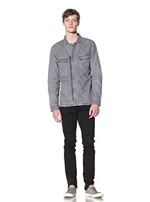 EDUN Men's Zip Front Jacket (Ash)