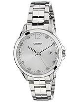 Citizen Analog White Dial Women's Watch - EV0050-55A