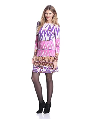 JB by Julie Brown Women's Morgan Long Sleeve Shift (Purple Africa)