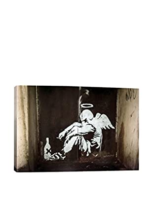 Banksy Drunken Angel Gallery Wrapped Canvas Print