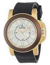 August Steiner Men's AS8057BR Quartz Sport Silicone Strap Watch