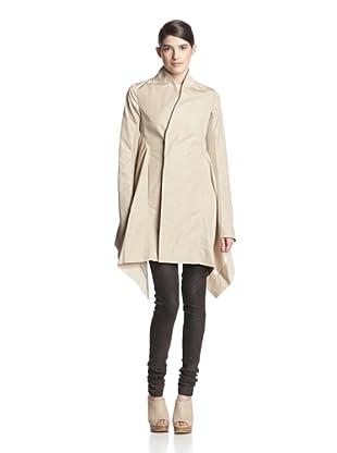 Rick Owens Women's Oblique Coat (Vanilla)