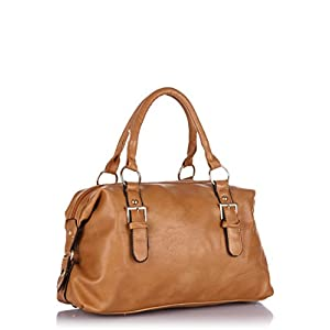 Tan Bowler Handbag