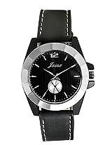 Jainx men Black Genuine leather analogue watch JM153
